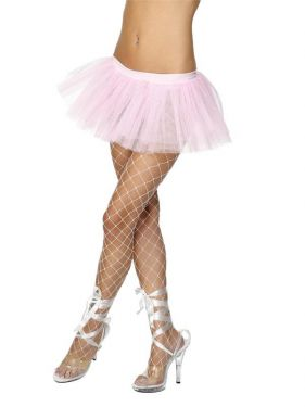 Ladies Fancy Dress - Baby Pink 80s Tutu